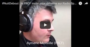Sur #NuitDebout : Aymeric Monville invité par Radio Sputnik #vidéo