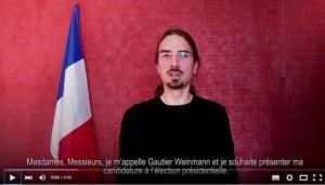 Gautier Weinmann : un rouge propose d'être candidat à la présidentielle.