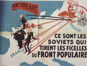 affiche anti Front populaire