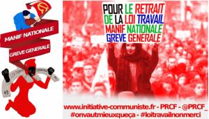 Loi Travail : la commission luttes du PRCF appelle à la mobilisation générale #manif14juin #manif9juin #loitravail