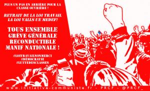 Construire la grève générale reconductible #Tract #LoiTravail #Manif19mai #PRCF
