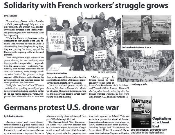 WWP USA loi travail 14 juin 2016