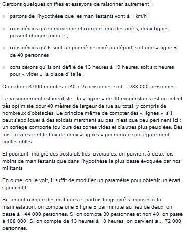 chiffres bidon du journal Le Monde