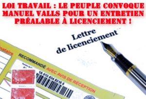 #loitravail Le Peuple convoque Manuel Valls pour un entretien préalable à licenciement !
