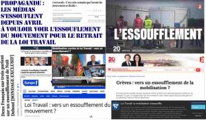 Loi Travail les chiffres montrent l'essoufflement … de la propagande gouvernementale : Pujadas et Nathalie Saint-Cricq n'arrêtent pas de s'essoufler!
