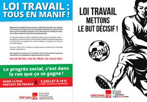 #LoiTravail : CGT, FO, SUD, FSU … l'intersyndicale appelle à la manifestation le 5 juillet dans toutes la France