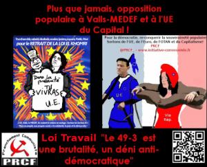 #LoiTravail : au nouveau 49.3 qui se prépare à l'Assemblée Nationale le peuple répond RESISTANCE !