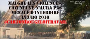 A propos de l'euro 2016 marqué par de très lourdes violences et de la propagande médiatique et gouvernementale #loitravail
