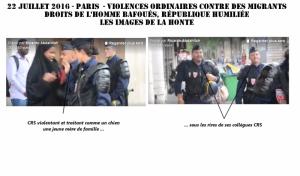A Paris, la vidéo de la honte de la violence d'un CRS contre des migrants #droitsdelhomme