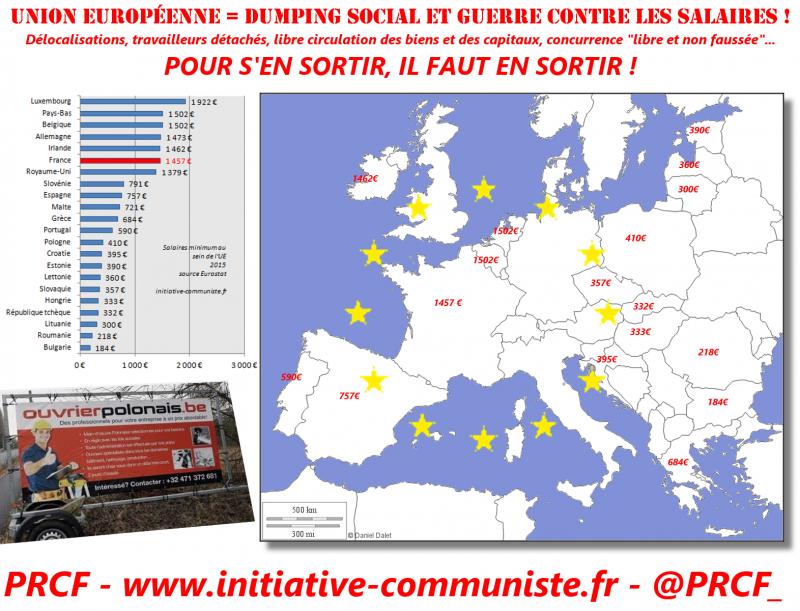 europe travailleurs détachés smic salaires