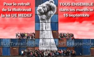 Pour l'abrogation de la #LoiTravail : pour la République sociale, souveraine et fraternelle ! #Tract #PRCF #manif15sept