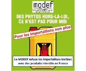 modef phythosanitaires pesticides importation légumes fruits