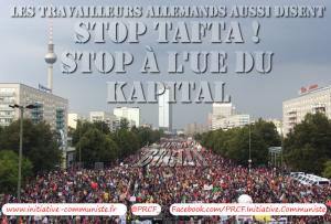 Par centaines de milliers, les allemands manifestent contre le TAFTA : stop TAFTA c'est stop UE ! #TTIP #CETA