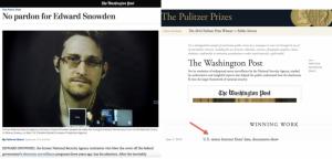 Scandale : Le Washington Post demande l'inculpation de Snowden, la source qui lui a permis d'obtenir le prix Pulitzer !