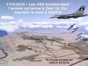 Washington soutien DAECH : la coalition reconnait avoir bombardé l'armée combattant l'EI à Deir ez zor
