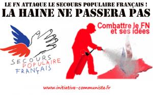 Le FN attaque le Secours Populaire Français et les pauvres !