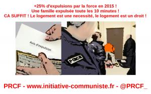 +25% d'expulsions en 2015  ! le PRCF fait des propositions pour le droit au logement !