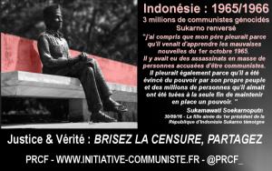 Génocide anticommuniste en Indonésie, coup d'état, la fille de Sukarno témoigne.