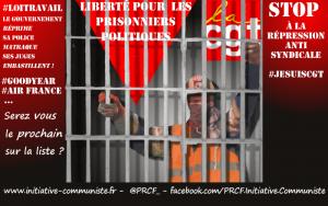 #LoiTravail Après les #violencespolicières, les procès politiques. Un militant CGT condamné à de la prison dans le Nord !