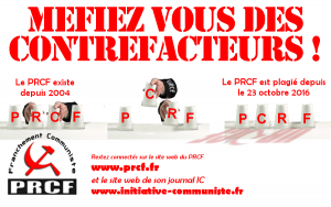 L'embrouille PCRF contre le PRCF : la confusion au service de l'impuissance !