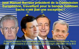 Affaire Barosso : L'UE et Goldman Sachs partagent les même valeurs !
