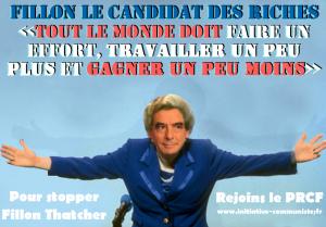 Face à Fillon-Thatcher et à Le Pen, allons vers les travailleurs !