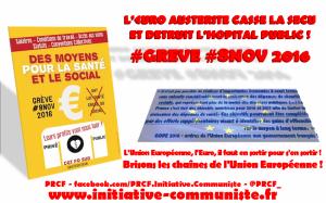 #grève #8nov : Le secteur de la santé en grève contre l'Euro Austérité qui casse la SECU et détruit l'Hôpital Public !