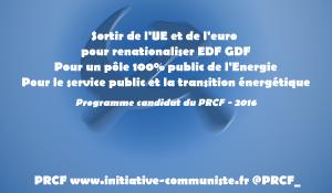 Mélenchon propose de Sortir du Nucléaire : analyse et propositions critiques du PRCF. #écologie #énergie #nationalisation