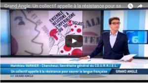 Vidéo : pourquoi le français est menacé ? pourquoi faut il le défendre ? le COURRIEL invité de TV5 monde