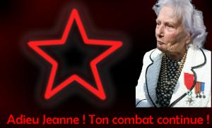 Adieu Jeanne ! Ton combat continue !