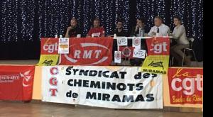 France, Belgique, Grande Bretagne : convergence internationale à Miramas contre l'euro destruction du service public ferroviaire #CGT #RMT #CGSP