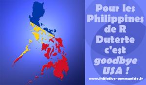 """Duterte demande à l'armée US à se préparer à quitter les Philippines : """"Goodbye America""""!"""