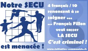 4 français sur dix renoncent à se soigner : le projet de Fillon veut casser la Sécu ? c'est criminel !