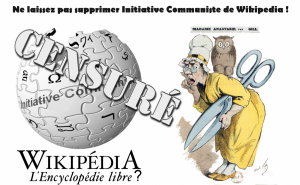 #wikipedia la censure vise Initiative Communiste ! Mobilisez vous !