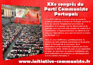 """XXe congrès du PCP : """"Une politique patriotique et de gauche : libérer le Portugal de la soumission, de la dépendance et des contraintes imposées par l'euro, renégocier la dette, rendre au pays ce qui appartient au pays"""""""