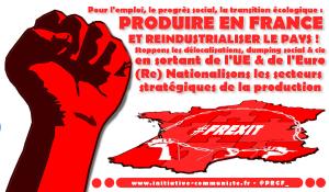 A propos du débat sur la ré-industrialisation de la France : Commentaire du PRCF et proposition d'action commune aux militants franchement communistes.
