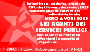 Remercions les agents des services publics qui font tourner la France en affrontant épidémies et tempêtes !