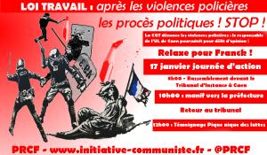 17 janvier : Soutenir Frank Merouze et la CGT pour défendre la liberté d'expression contre les #violencespolicières