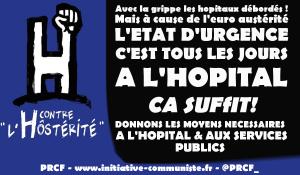 """#Vidéo : """"L'état d'urgence c'est tous les jours à l'hôpital""""  En raison de l'#austérité et de la grippe les urgences débordées !"""
