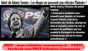 Mort de Mario Soares : Les éloges ne peuvent pas réécrire l'histoire ! – par Odiaro Info