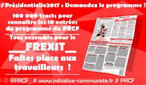 Présidentielle 2017 L'Appel aux travailleurs à la jeunesse, aux progressistes !