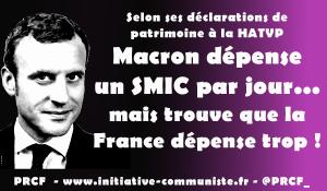 Mais où est donc passée la fortune de Macron ? il dépenserait un smic par jour ! [Reprise]