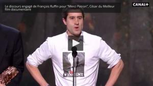 #vidéo Aux Césars Ruffin dénonce l'euro dumping social et les délocalisations de l'industrie.