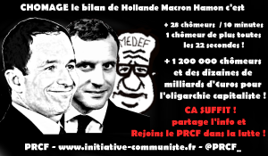 Chômage le bilan de Macron Hamon et Hollande c'est +1,2 million de  chômeurs en 5 ans !