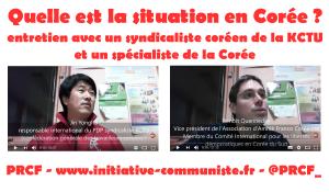 Vidéo: Quelle est la situation en Corée ? entretien avec un syndicaliste de la KCTU et un spécialiste de la Corée.