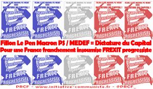 Pour une France Insoumise, Franchement, FREXIT progressiste ! L'affiche du PRCF !