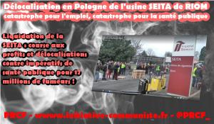 Liquidation de la SEITA : course aux profits et délocalisations contre impératifs de santé publique pour 17 millions de fumeurs !