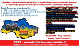 UNICEF : un million d'enfants a besoin d'aide d'urgence dans le Donbass !