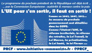 #GOPE 2017 #Présidentielle l'UE publie le programme du prochain président, pour y échapper, une nécessité, le FREXIT populaire !