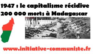 29 mars 1947 – Insurrection à Madagascar : la répression tue 200 000 travailleurs